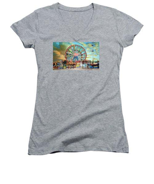 Wonder Wheel Women's V-Neck T-Shirt