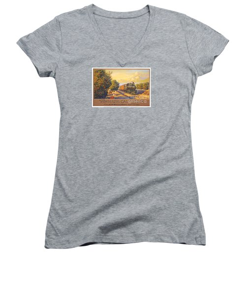 Wonderful California Women's V-Neck T-Shirt (Junior Cut) by Nostalgic Prints