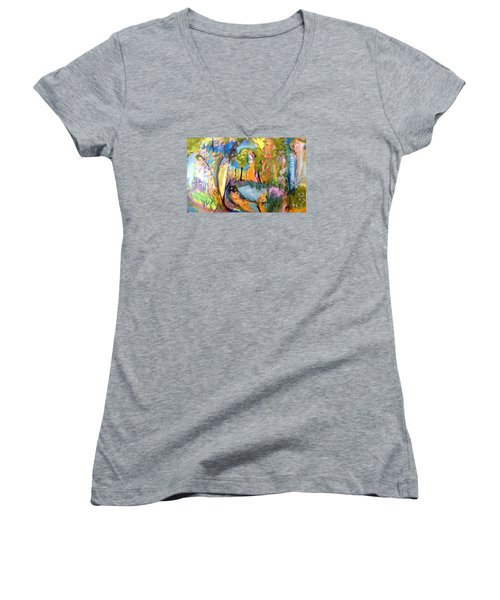 Wondering In The Garden Women's V-Neck T-Shirt
