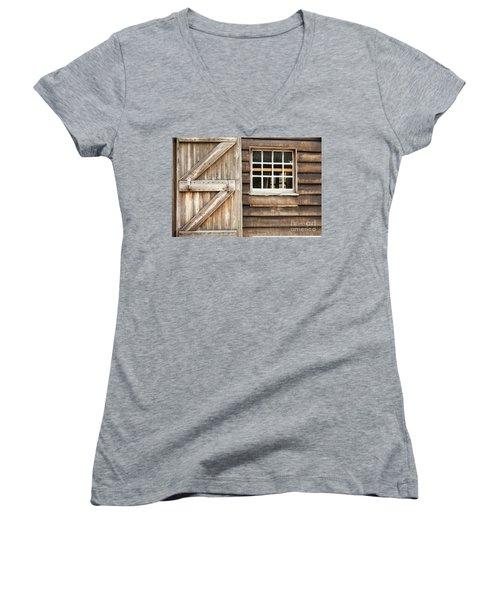 Wood Door And Window Women's V-Neck