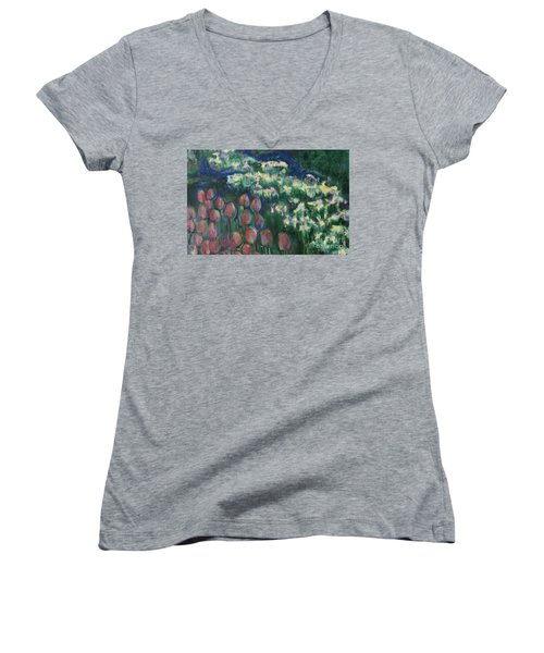 Woodland Field Women's V-Neck (Athletic Fit)