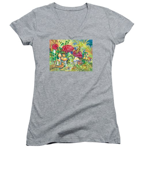 Woodland Visitors Women's V-Neck (Athletic Fit)