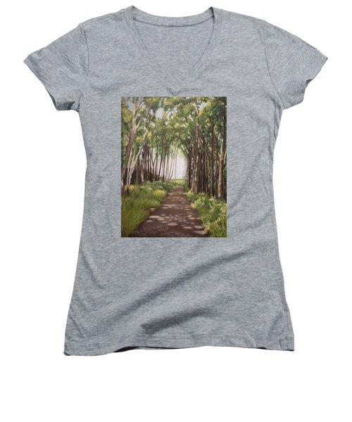 Woods Women's V-Neck T-Shirt