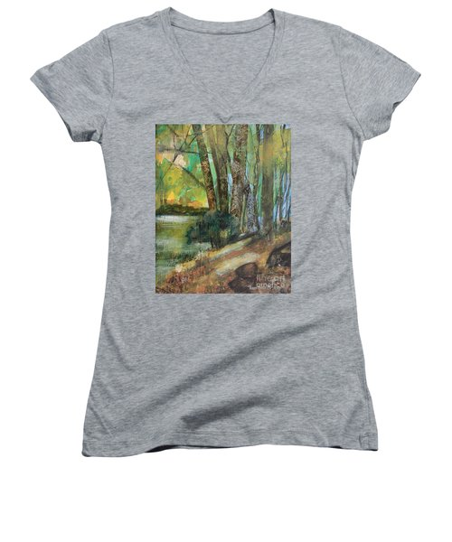 Woods In The Afternoon Women's V-Neck