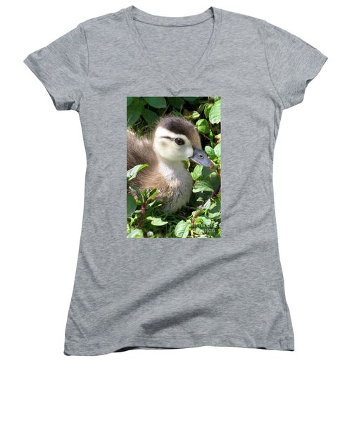Woody Duckling Women's V-Neck (Athletic Fit)