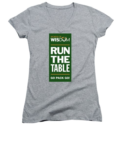 Words Of Wisdom Women's V-Neck (Athletic Fit)