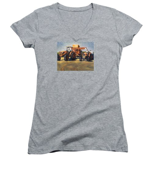 Workin' At The Ranch Women's V-Neck T-Shirt (Junior Cut)