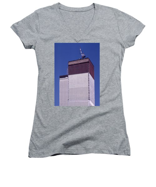 World Trade Center Under Construction Women's V-Neck