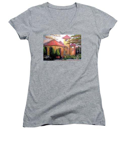 Worlds Fair Pavilion In Forest Park Women's V-Neck T-Shirt