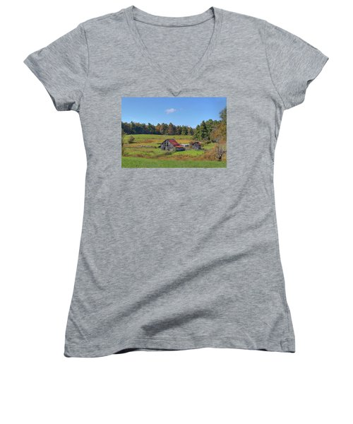 Worn Out Women's V-Neck T-Shirt (Junior Cut) by Sharon Batdorf