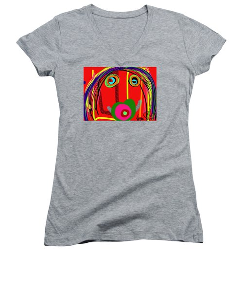 Worries Worries All Day Long Women's V-Neck T-Shirt