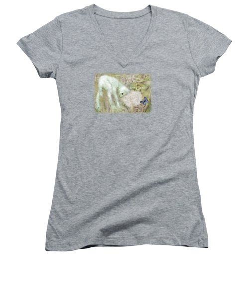 Worthy Is The Lamb - Quote Women's V-Neck (Athletic Fit)
