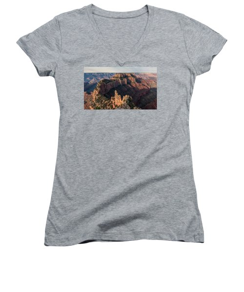 Wotan's Throne Panorama II Women's V-Neck (Athletic Fit)