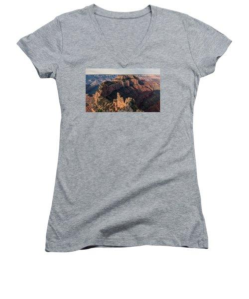 Wotan's Throne Panorama II Women's V-Neck T-Shirt