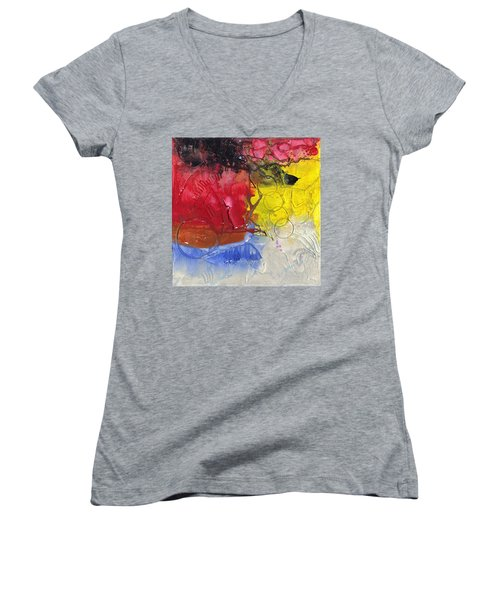 Wounded Women's V-Neck T-Shirt (Junior Cut) by Phil Strang