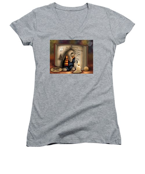 Wow I'm Harry Potter Women's V-Neck (Athletic Fit)