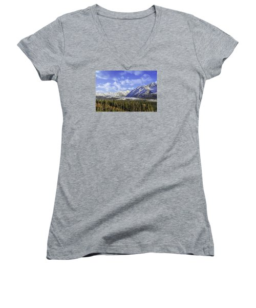 Wrangell Mountains Glacier Alaska Women's V-Neck (Athletic Fit)