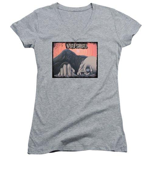 Wulfskull#4 Women's V-Neck T-Shirt