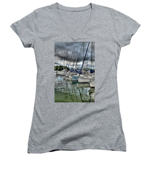 Yachts On Lake Windermere Women's V-Neck (Athletic Fit)