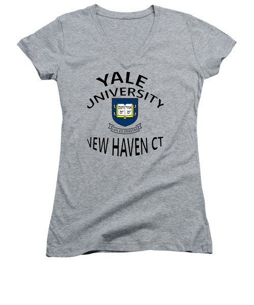 Yale University New Haven Connecticut  Women's V-Neck T-Shirt