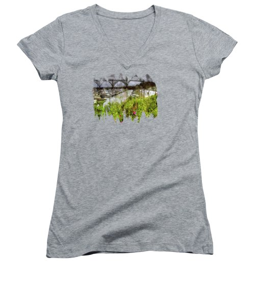Yaquina Bay Roses Women's V-Neck T-Shirt