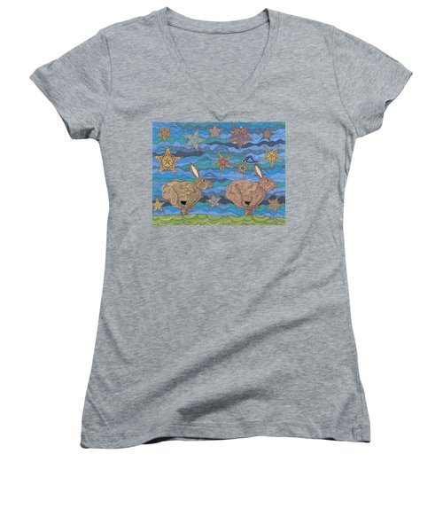 Year Of The Rabbit Women's V-Neck (Athletic Fit)