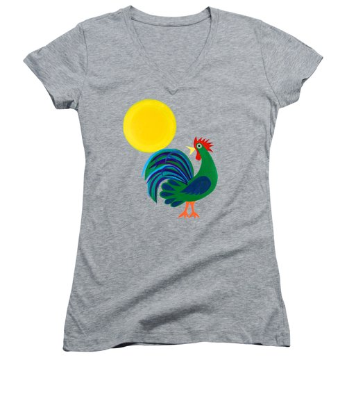 Year Of The Rooster Women's V-Neck (Athletic Fit)