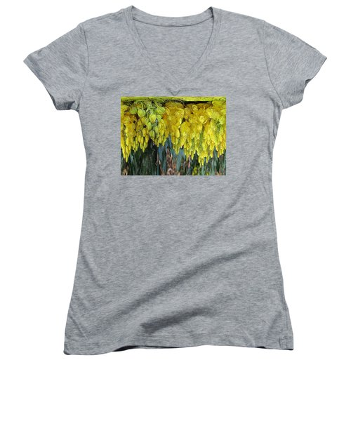 Yellow Buds Women's V-Neck (Athletic Fit)