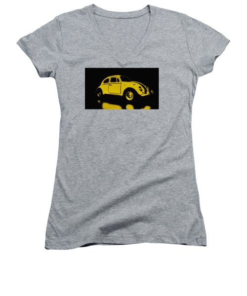 Yellow Bug Women's V-Neck (Athletic Fit)