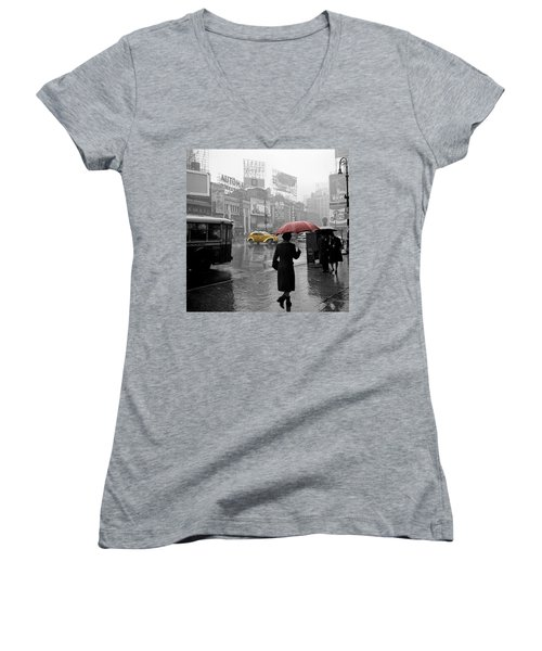 Yellow Cabs New York 2 Women's V-Neck (Athletic Fit)