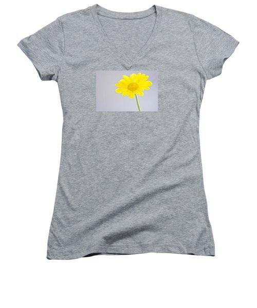 Yellow Drops Women's V-Neck T-Shirt (Junior Cut) by Shelly Gunderson
