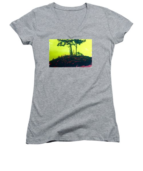 Yellow Dusk Women's V-Neck T-Shirt