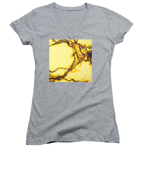 Yellow Flow Women's V-Neck