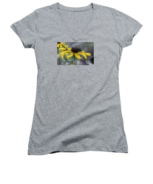 Yellow Flower 6 Women's V-Neck (Athletic Fit)