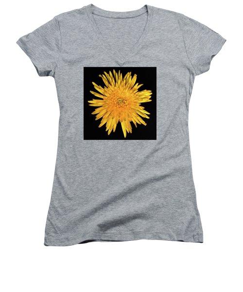 Yellow Flower Macro Women's V-Neck