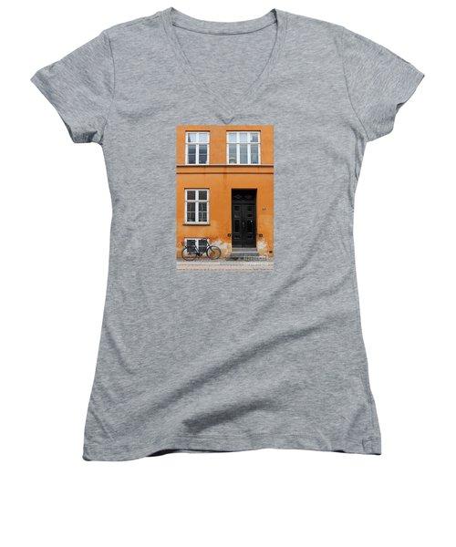 The Orange House Copenhagen Denmark Women's V-Neck (Athletic Fit)