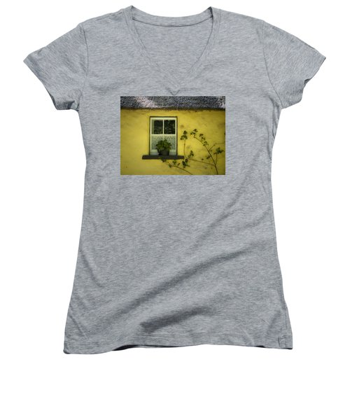 Yellow House County Clare Ireland Women's V-Neck
