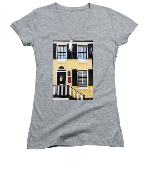 Yellow House Women's V-Neck (Athletic Fit)
