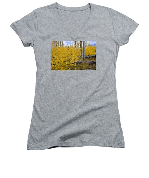 Yellow In Grand Teton Women's V-Neck