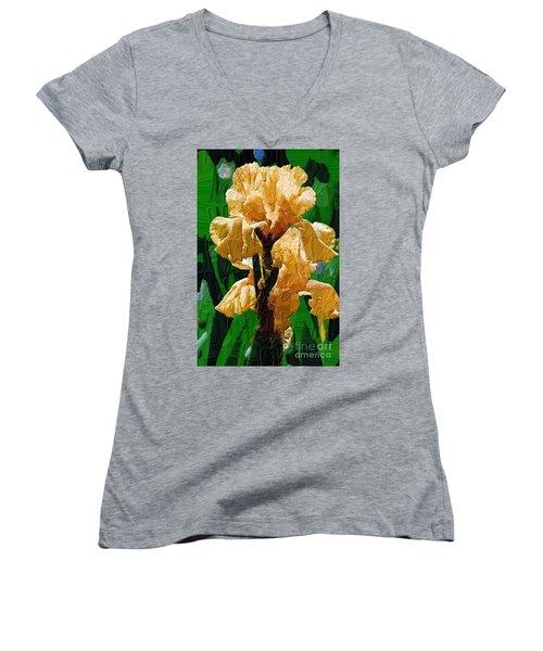 Yellow Iris Women's V-Neck (Athletic Fit)