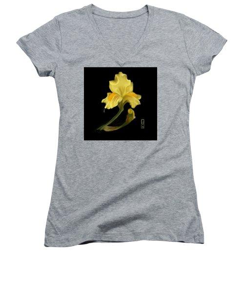 Yellow Iris Women's V-Neck
