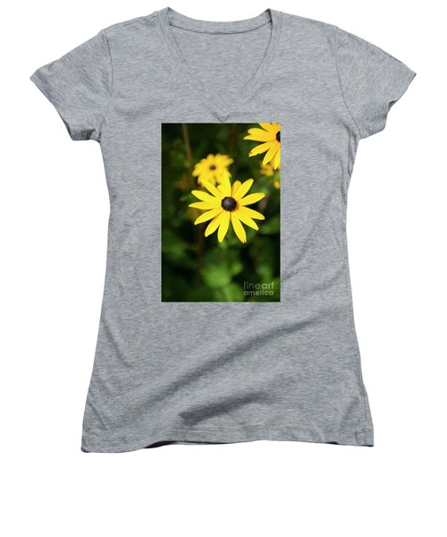 Yellow Women's V-Neck