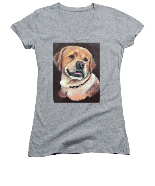 Yellow Lab Women's V-Neck (Athletic Fit)