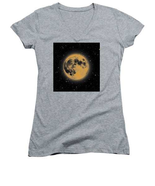 Yellow Moon Women's V-Neck (Athletic Fit)
