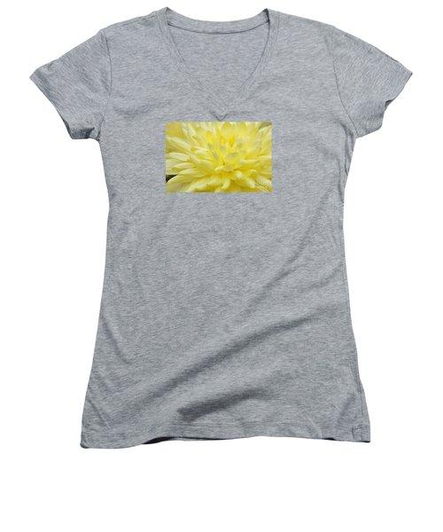 Yellow Mum Women's V-Neck T-Shirt (Junior Cut) by Jim Gillen
