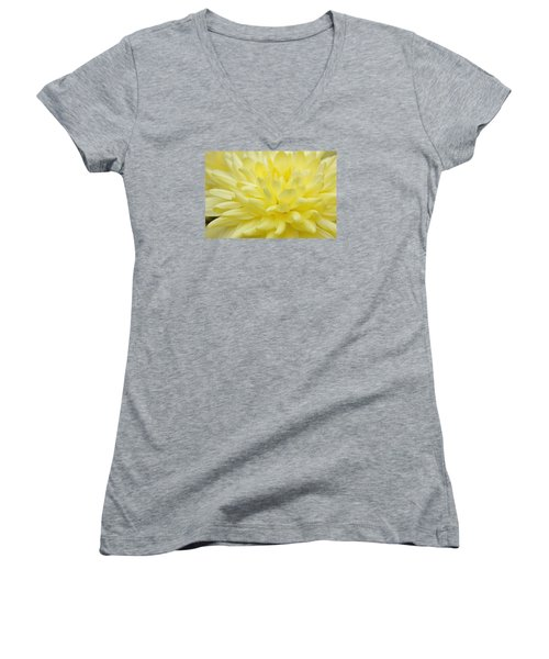 Yellow Mum Women's V-Neck T-Shirt