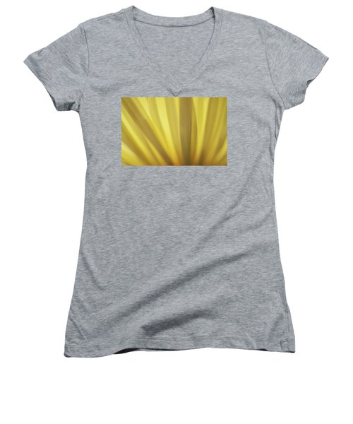 Yellow Mum Petals Women's V-Neck