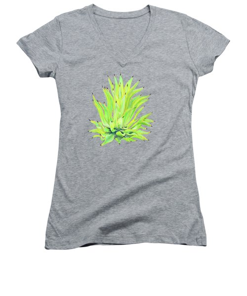 Yellow Octopus Agave Women's V-Neck T-Shirt