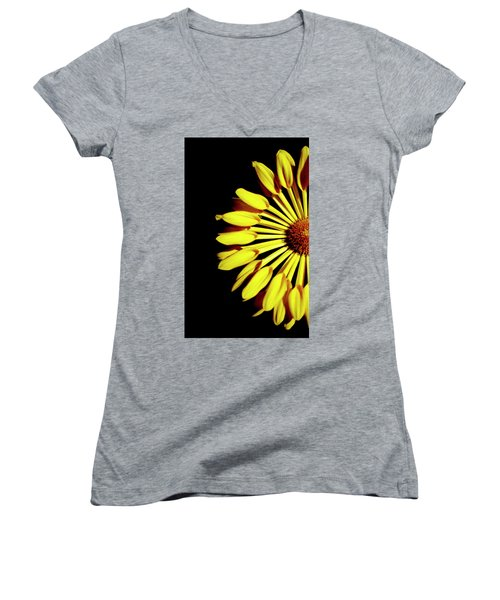 Yellow Petals Women's V-Neck T-Shirt