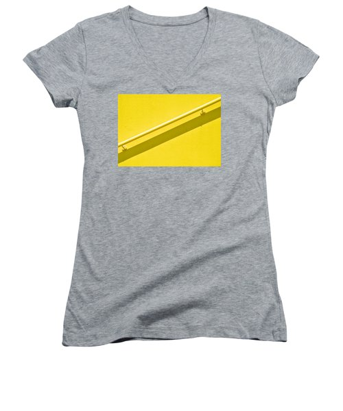 Yellow Rail Women's V-Neck T-Shirt (Junior Cut) by Josephine Buschman